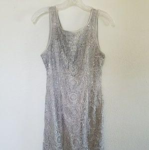 Gray silver sequin mini dress size 4